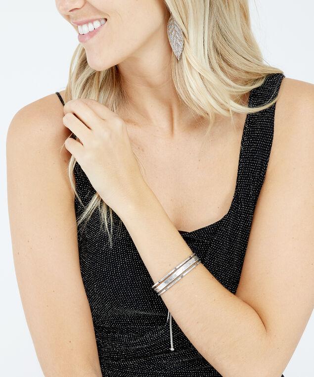 lariat cuff bracelet, Silver, hi-res