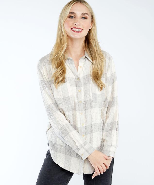 dex button front shirt, Grey