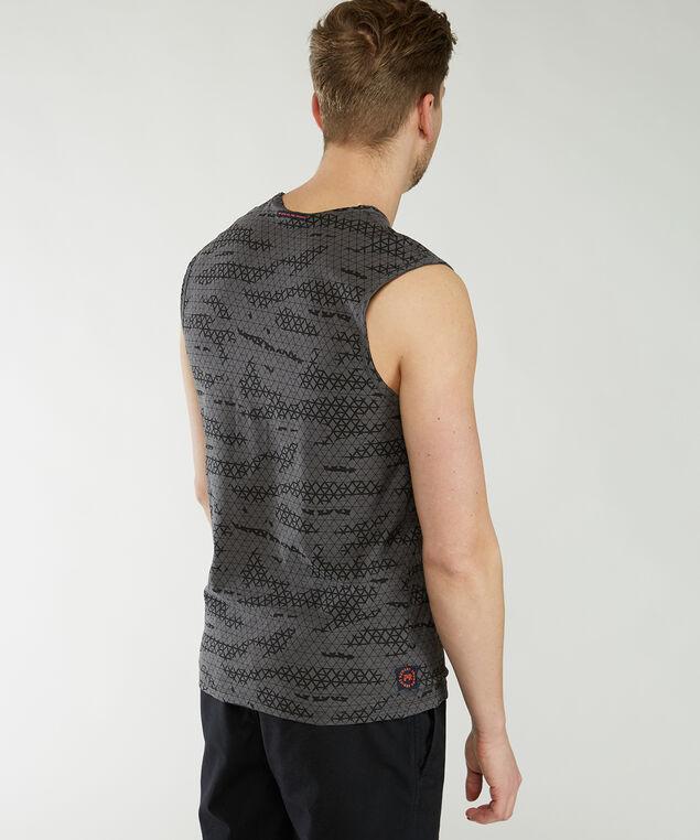 sleeveless muscle tank, Charcoal