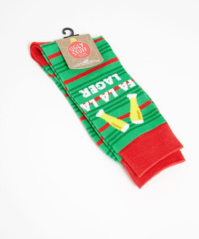 fa la la lager socks, green pattern, hi-res