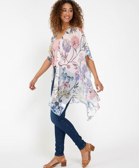 light floral kimono, FLORAL PRINT, hi-res