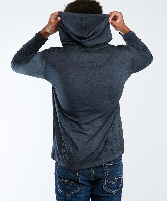 burnout hoodie, Charcoal