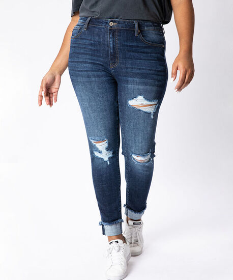 high rise skinny ankle plus size - wb, , hi-res