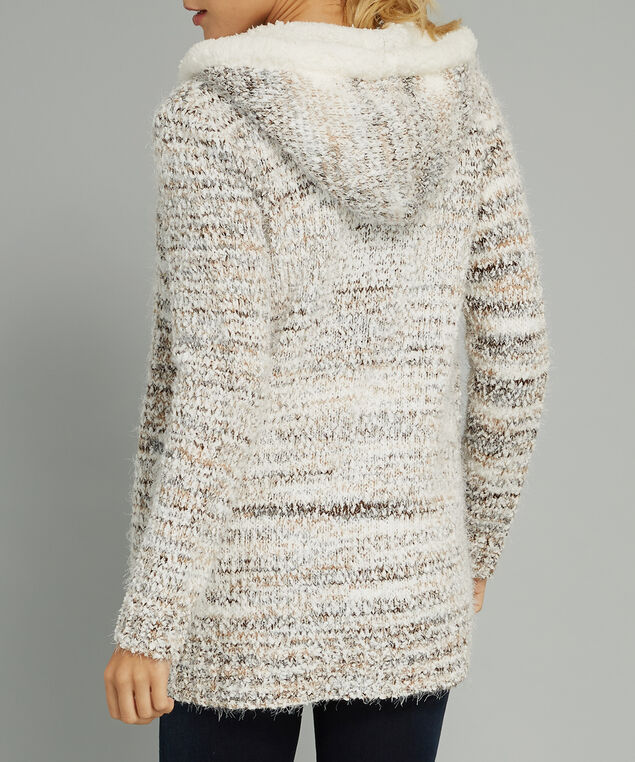 hooded cardigan - wb, NATURAL, hi-res