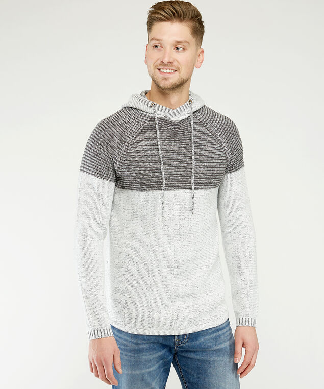 pullover with hood, Ivory, hi-res