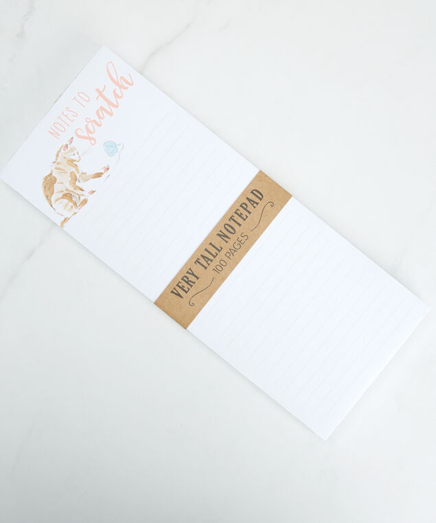 cat magnetic notepad, White
