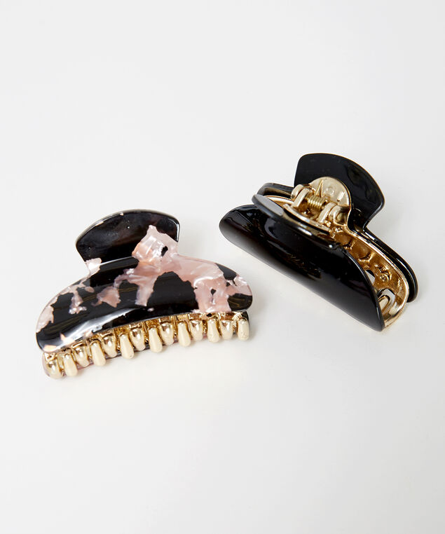 pack of two hair clips, PINK, hi-res
