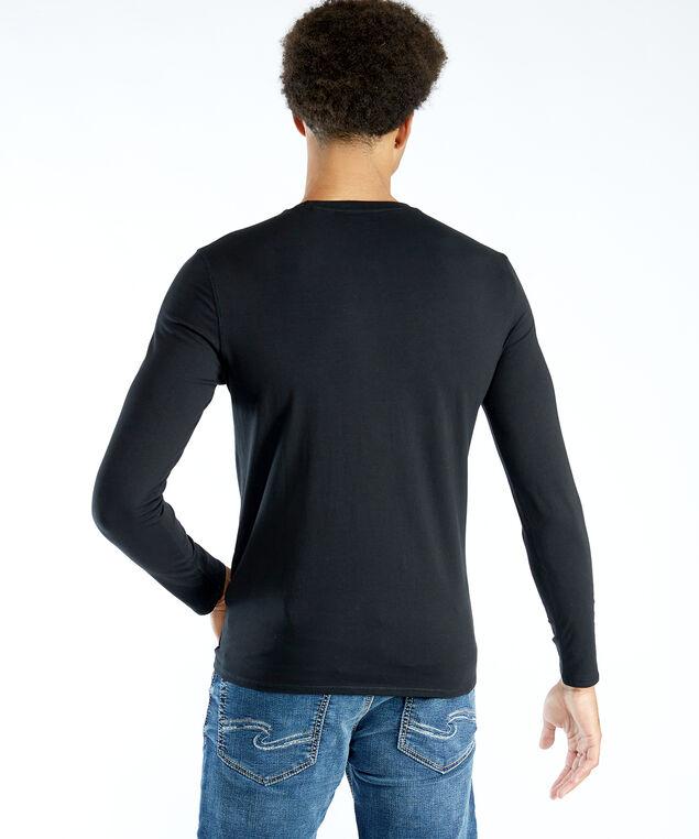 long sleeve logo tee, Black
