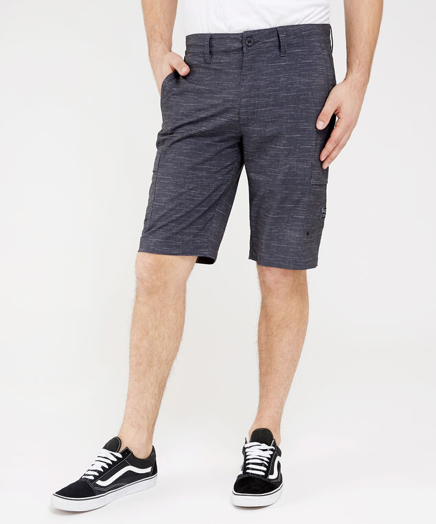 hasher hybrid textured cargo short, BLACK, hi-res
