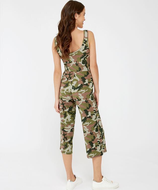 camo print jumpsuit - wb, CAMO, hi-res