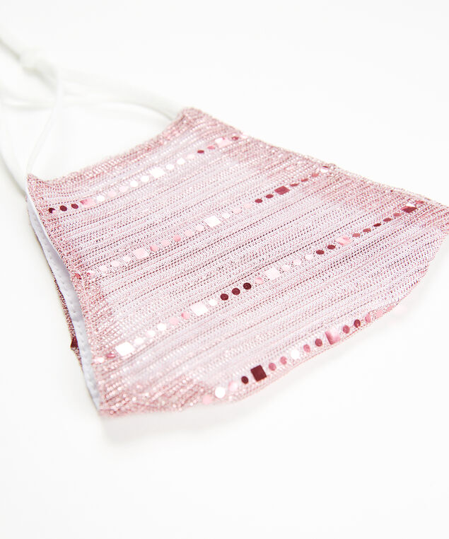 pink shimmer face mask, Pink