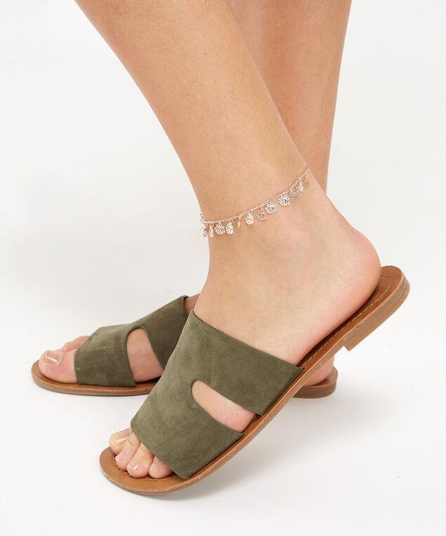 lotus leaf anklet, ROSE GOLD, hi-res