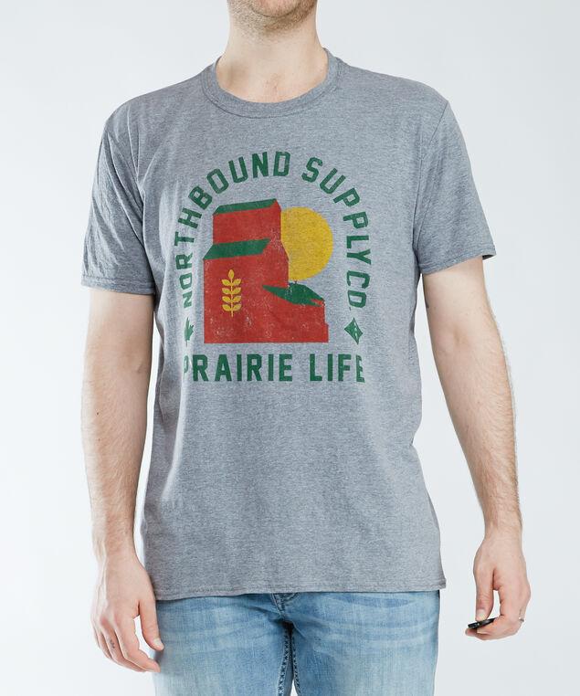 prairie life screen tee, grey melange