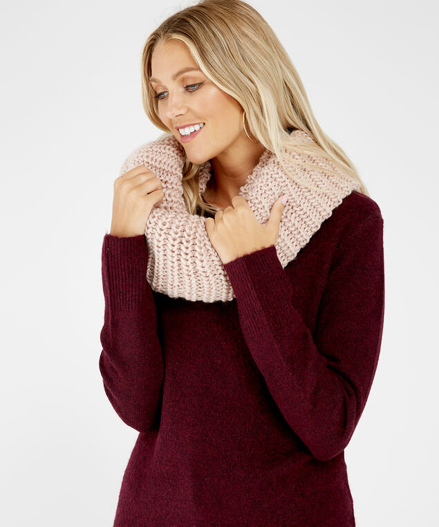 chunky scarf, Pink, hi-res