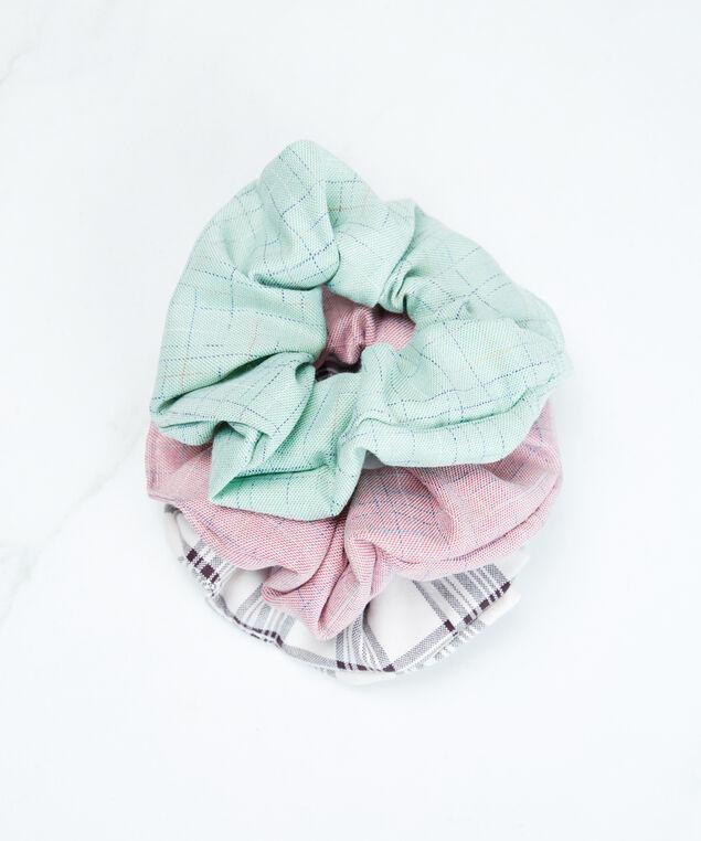 plaid scrunchie, Multi Plaid Pt