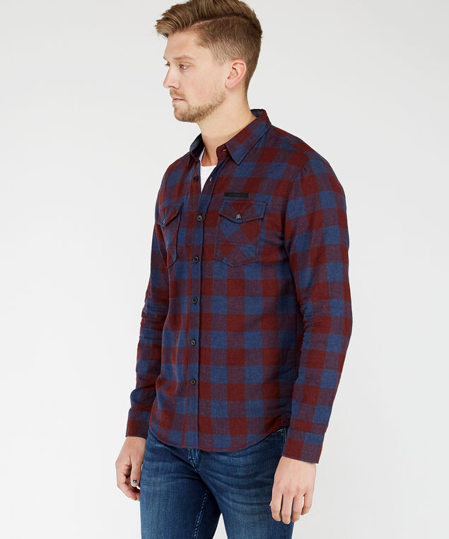 long sleeve shirt, Rust
