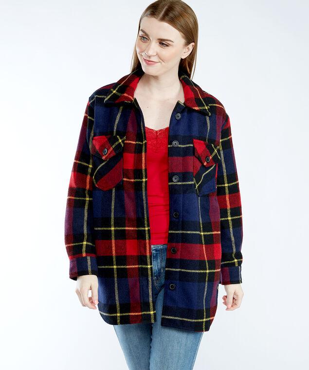 plaid shirt jacket, Red Pattern