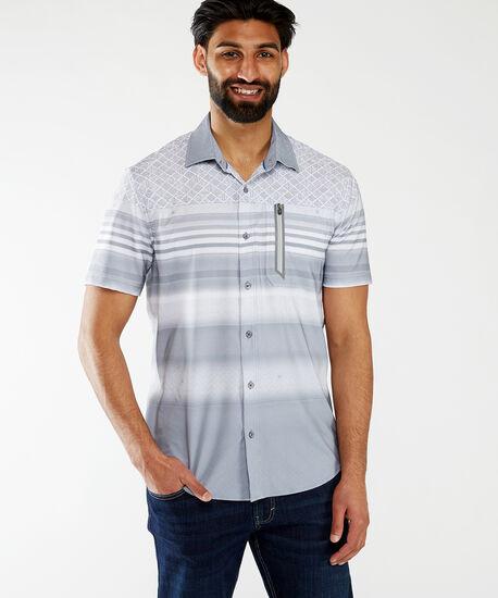 ss printed wicking shirt, Grey, hi-res