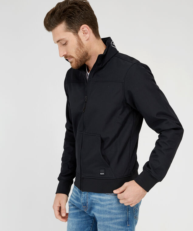 softshell zipup jacket, BLACK, hi-res