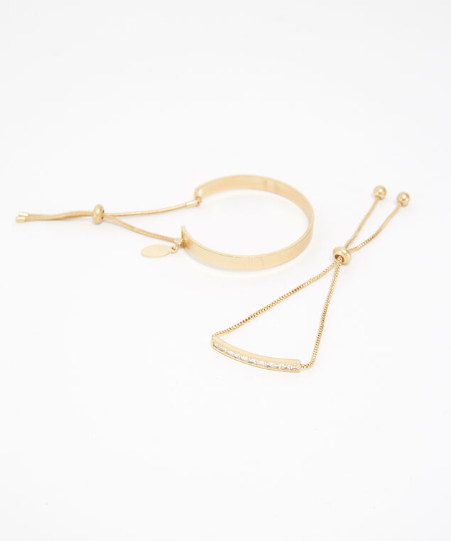 2 pack of bracelets, GOLD, hi-res