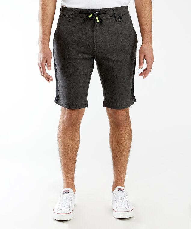 contrast drawstring waist short, Black