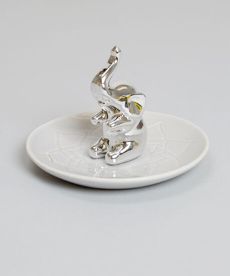 lotus elephant trinket tray - wb, SILVER COMBO, hi-res