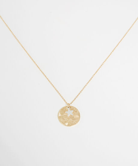 coin necklace, GOLD, hi-res