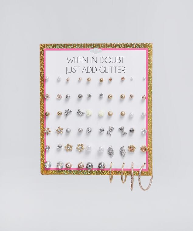 30 pack of earrings, MULTI, hi-res