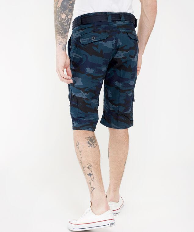 belted camo cargo short - wb, BLUE, hi-res