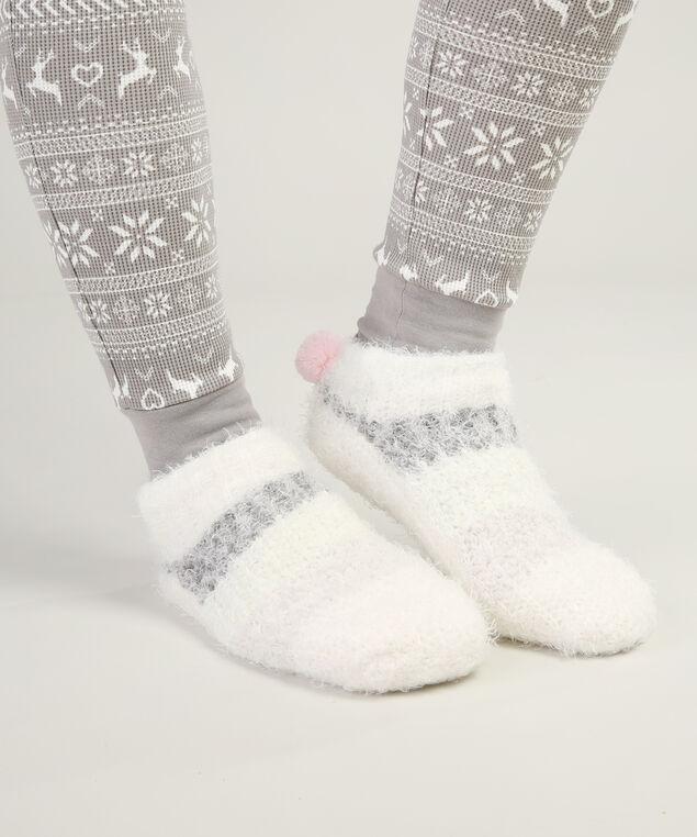 plush slipper sock with pom pom, PASTEL, hi-res