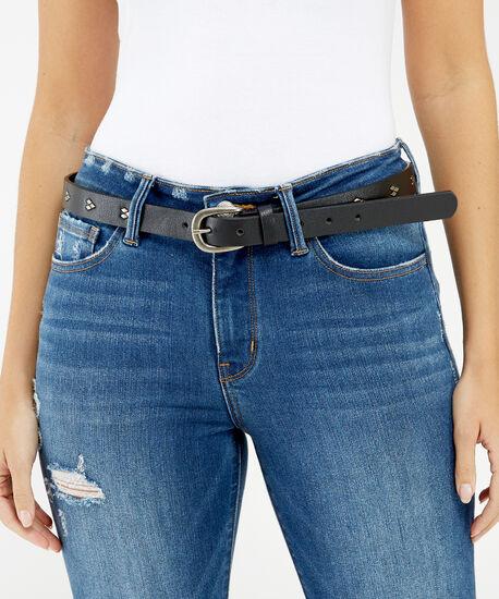 skinny diamond belt, BLACK, hi-res