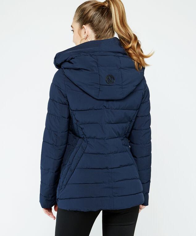 hooded polyfil puffer, Navy, hi-res