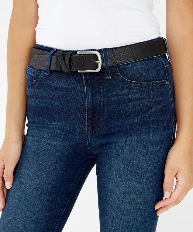 slim faux leather belt, BLACK, hi-res