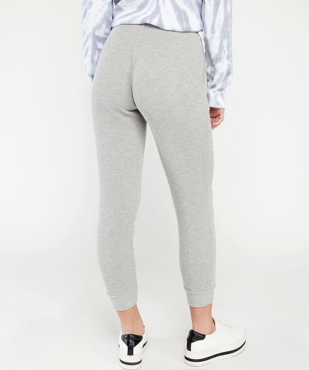 waffle knit jogger - wb, Grey, hi-res