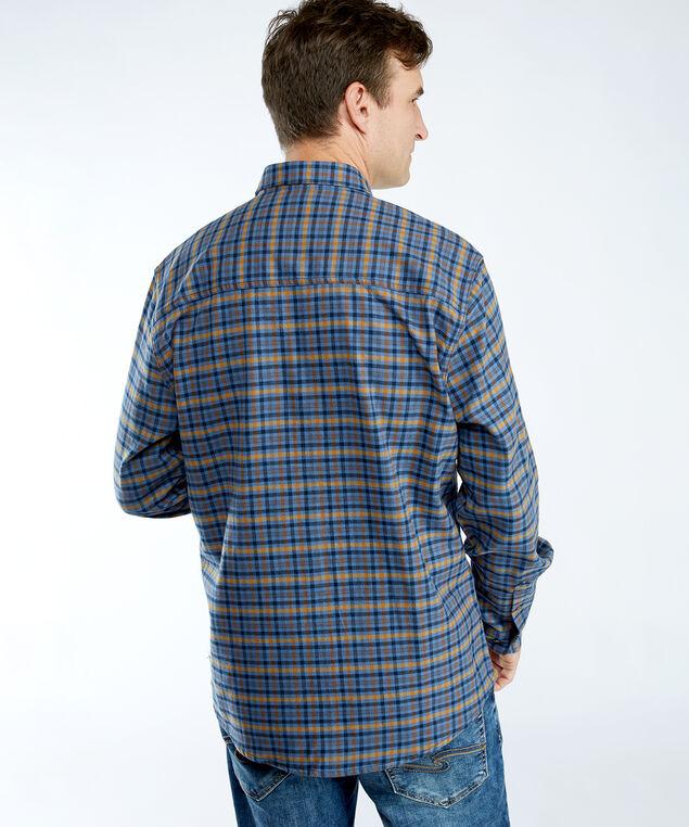 brushed flannel shirt, Blue