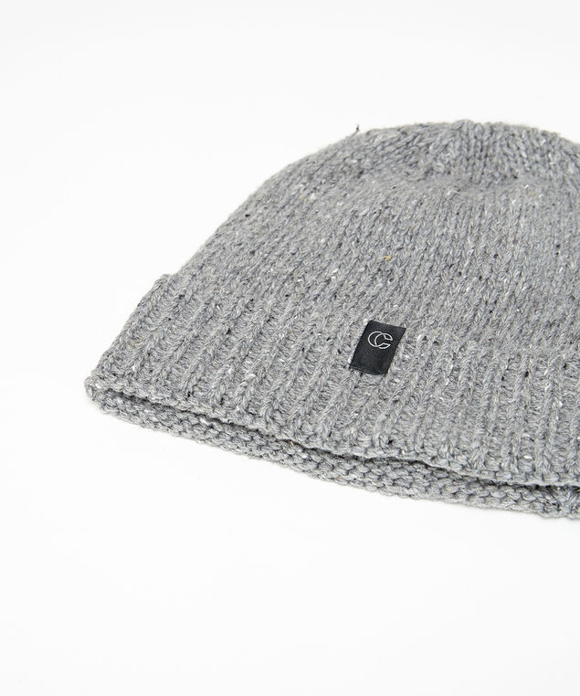 speckled beanie, GREY, hi-res