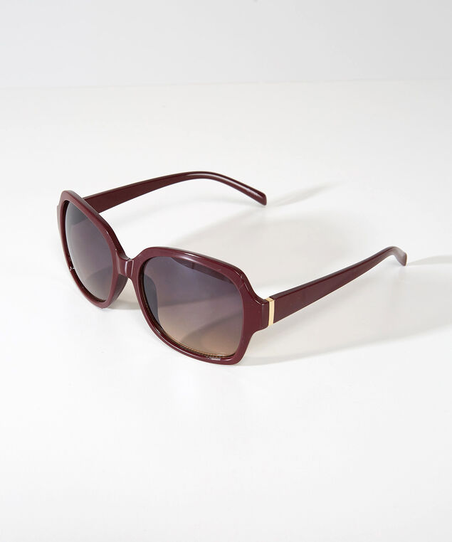large square sunglasses, BROWN, hi-res