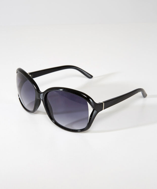 square sunglasses, BLACK, hi-res