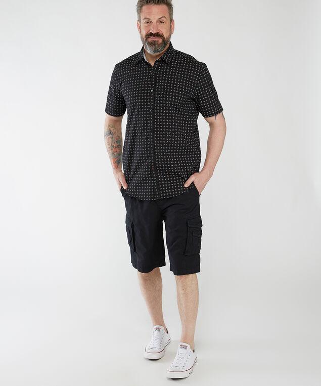 short sleeve printed shirt, Black Pt