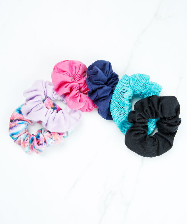 6 pack of hair scrunchies, Assorted, hi-res