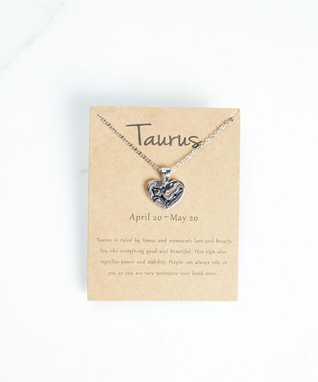 taurus zodiac necklace, Silver