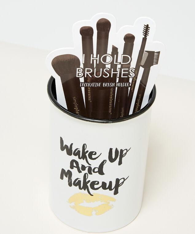 wakeup and makeup pot, WHITE, hi-res