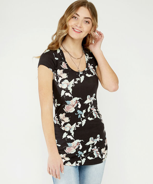 jenny ruched scoop st21, Floral Print