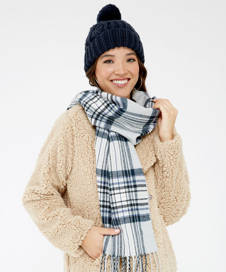 scarf and beanie set, Navy, hi-res