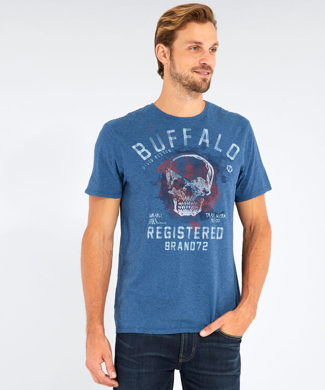 tihold buffalo graphic tee, HEATHER HYPER, hi-res