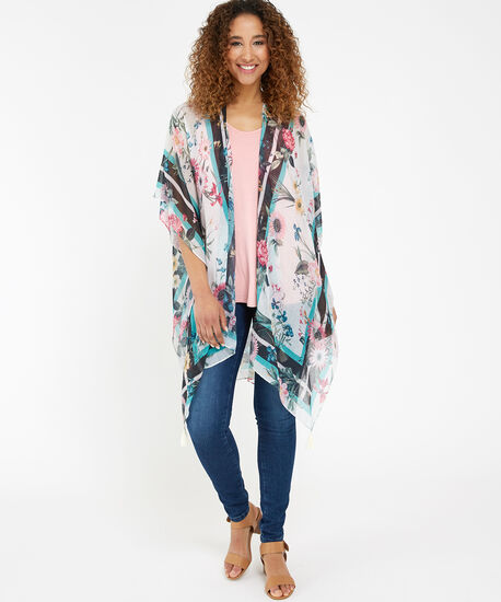 floral kimono with tassel, WHITE CMB, hi-res