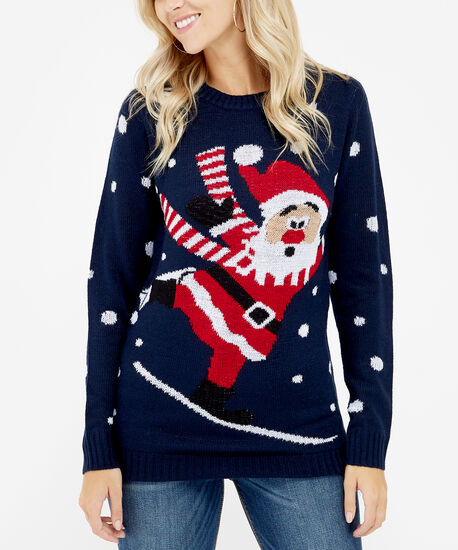 snow board santa - wb, Navy, hi-res