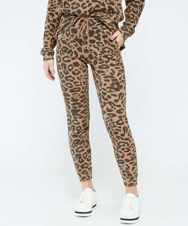 printed jogger - wb, Leopard