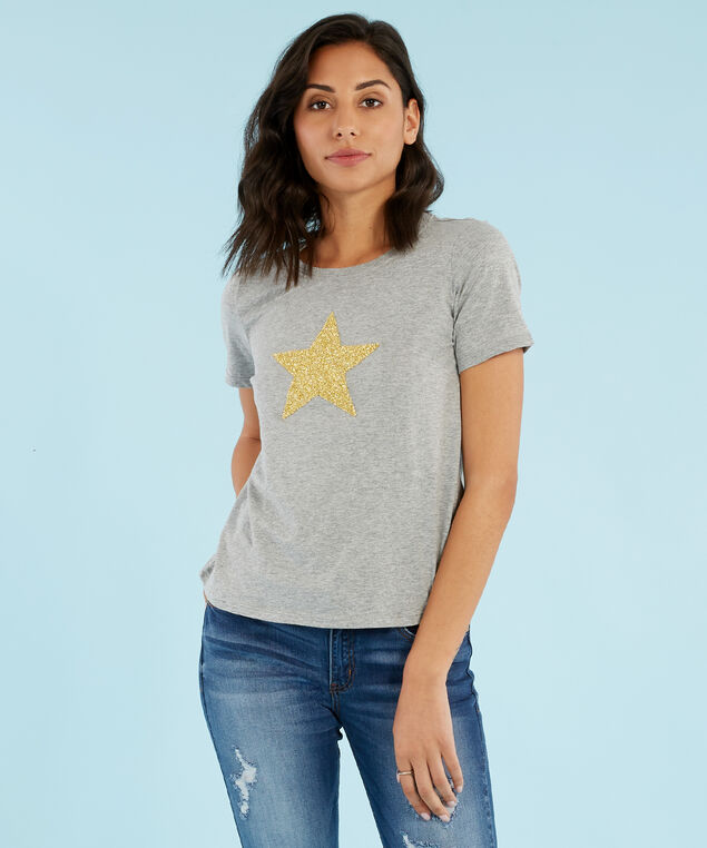 star graphic tee - wb, HEATHER GREY, hi-res