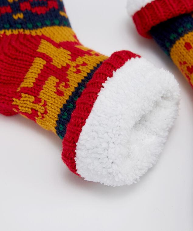 festive slipper socks, NAVY COMBO, hi-res